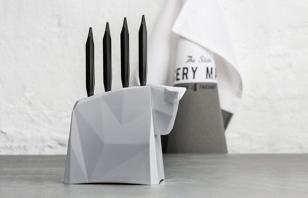 Blok z nożami do stekó Pablo Koziol