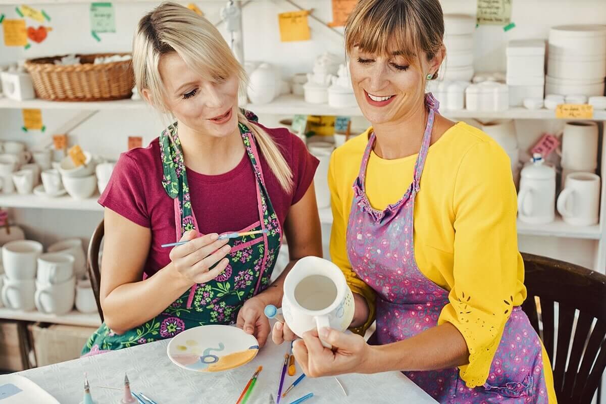 Warsztaty szkliwienia ceramiki dla 2 osób