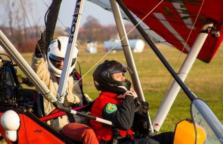 Loty motolotnią w tandemie w Radomiu