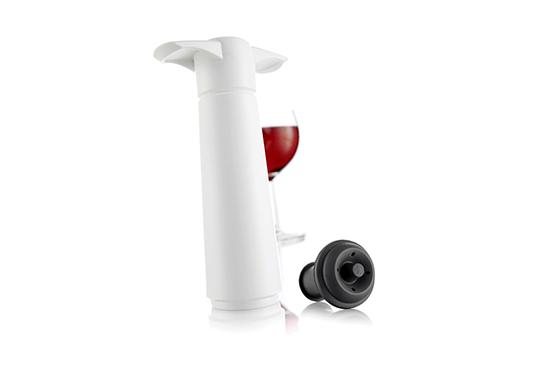Pompka próżniowa do wina z korkami (biała)