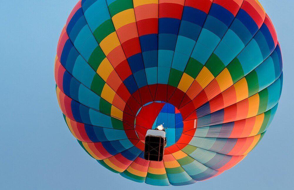 Lot nad Warszawą - balon