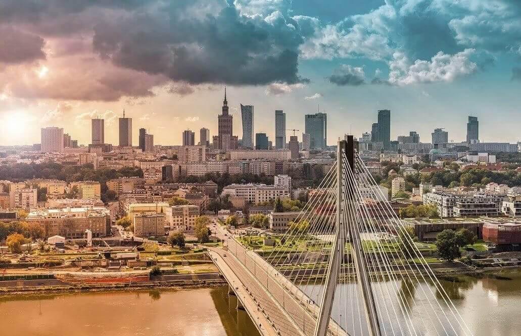 Lot widokowy - Warszawa