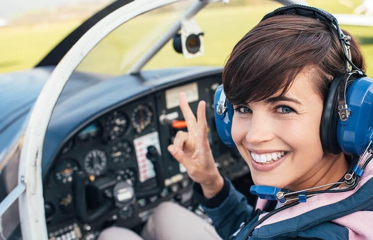 Lekcja latania samolotem w Warszawie