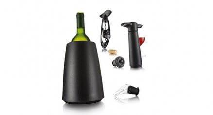 Zestaw do wina: pompka, nalewak, kubełek chłodzący, korkociąg | Vacu Vin