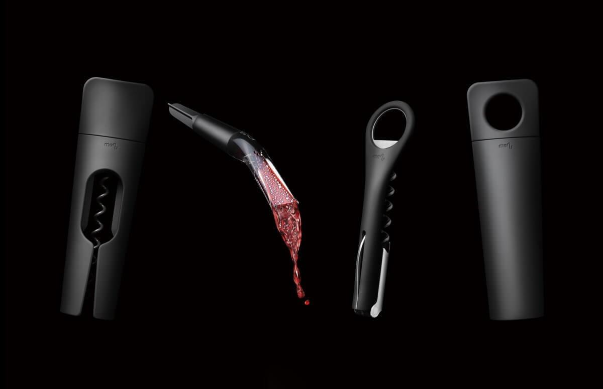 Zestaw korkociąg do wina i nalewak Blade - Menu