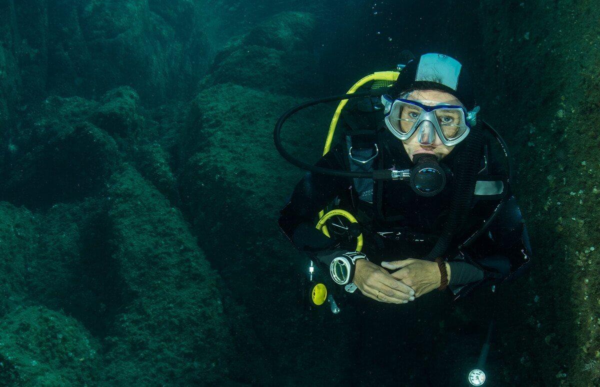 Zalany kamieniołom w Jaworznie - lekcja nurkowania