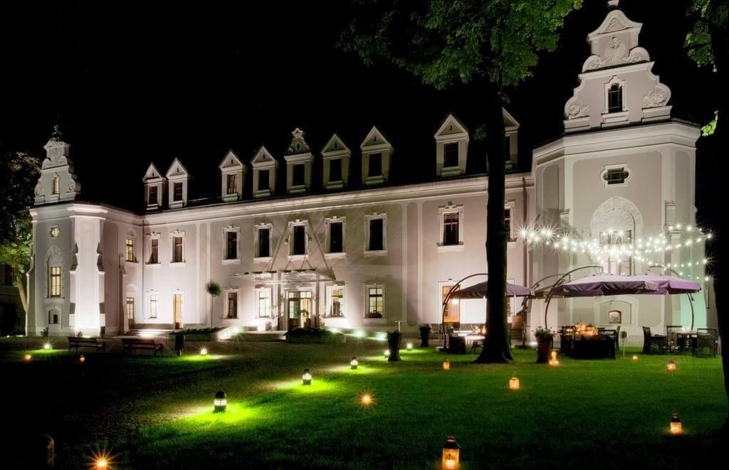 Zamek Lubliniec nocą