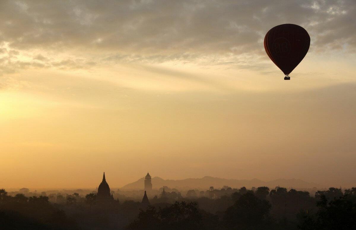 Romantyczny lot balonem - zaręczyny