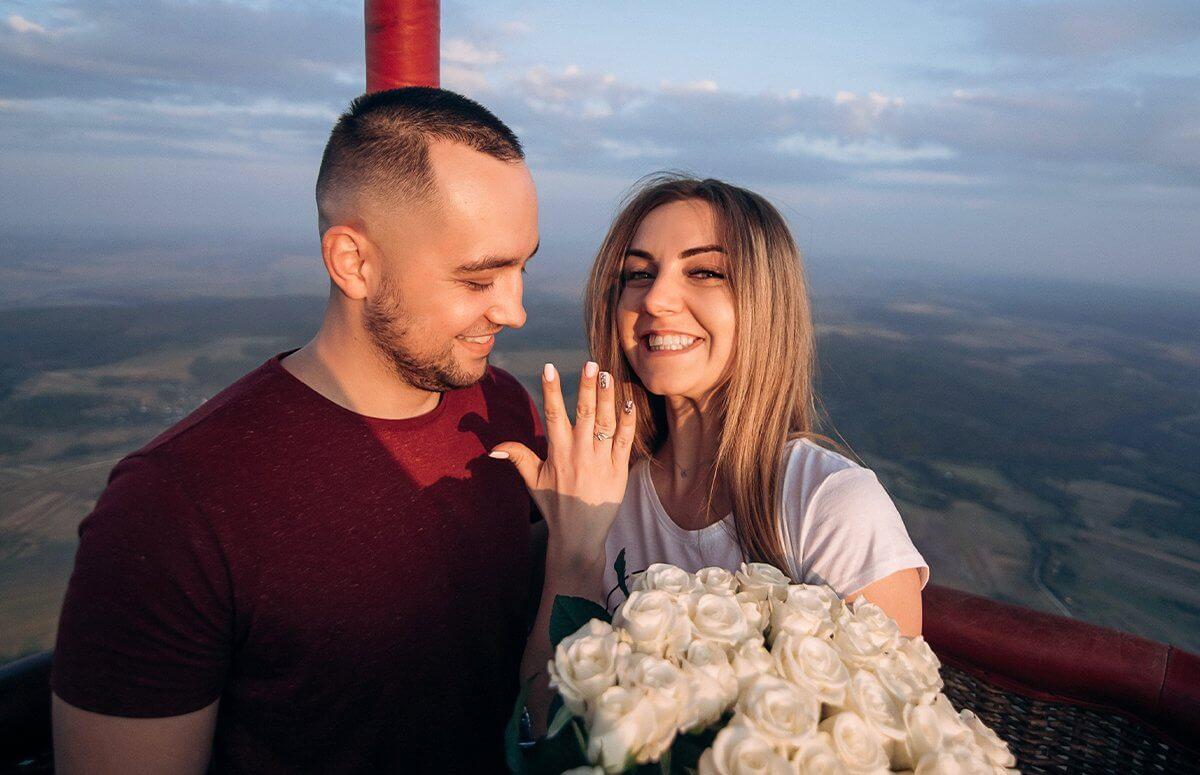 Zaręczyny podczas lotu balonem