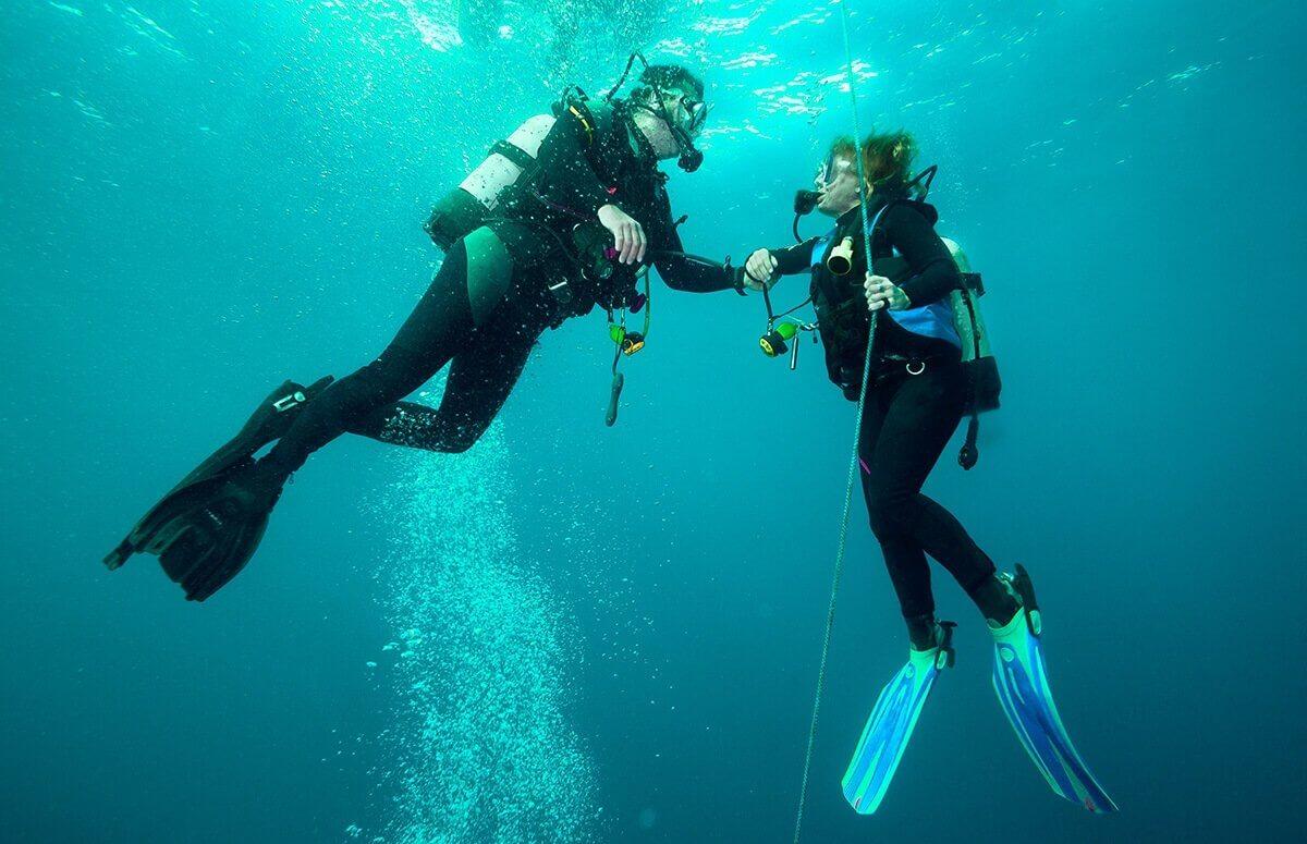 Nurkowanie w podwodnym kamieniołomie dla dwojga