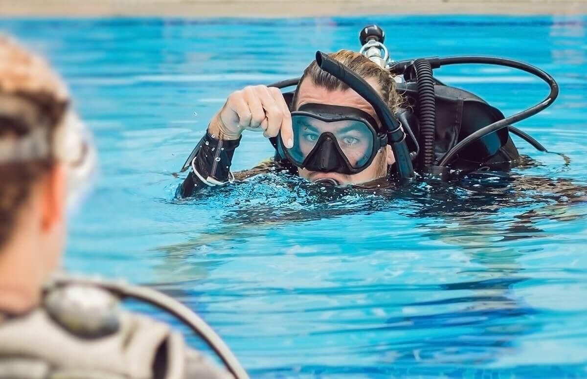 Nurkowanie na basenie - lekcja dla 2 osób