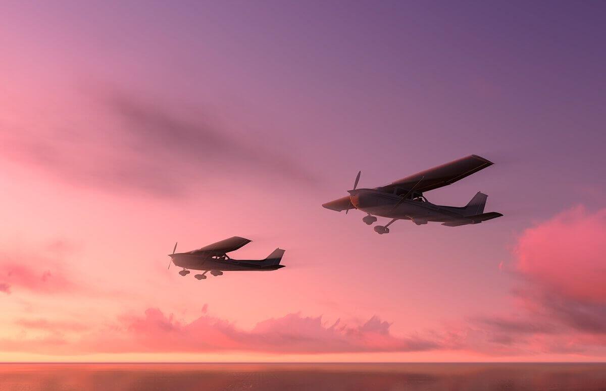 Romantyczny lot dla pary nad Warszawą