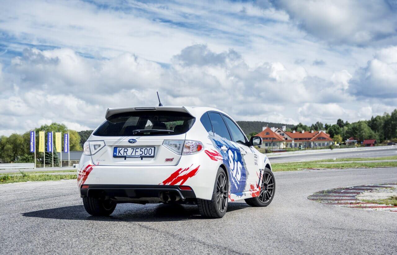 Subaru na torze Kielce