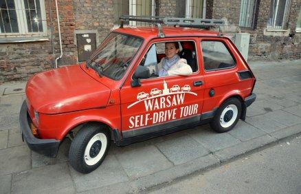 Zwiedź Warszawę Małym Fiatem