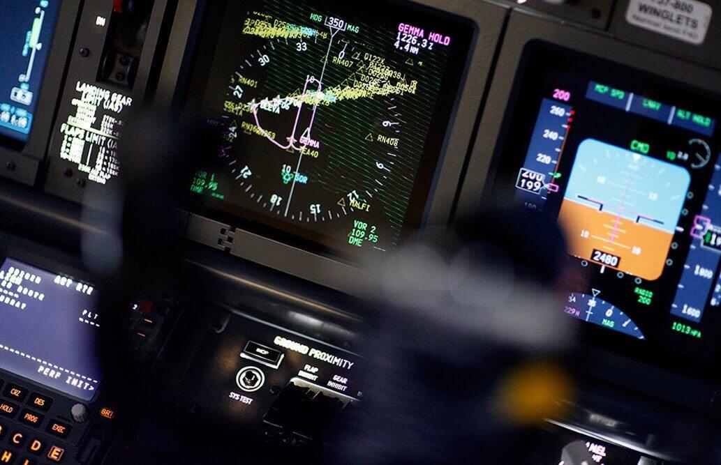 Lot w symulatorze