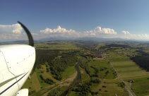 Spójrz na szczyty Tatr z samolotu