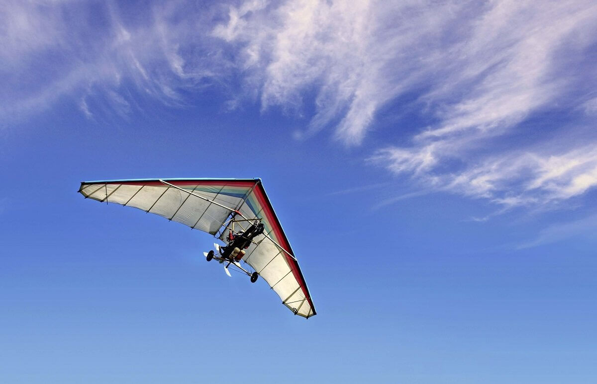 Lot motolotnią - tandem
