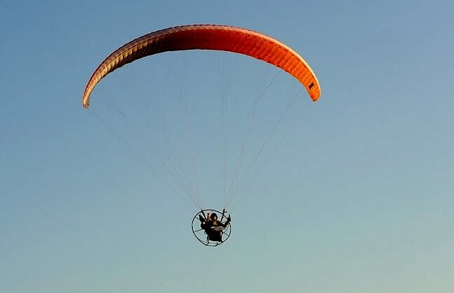 Loty motoparalotnią nad Makowem