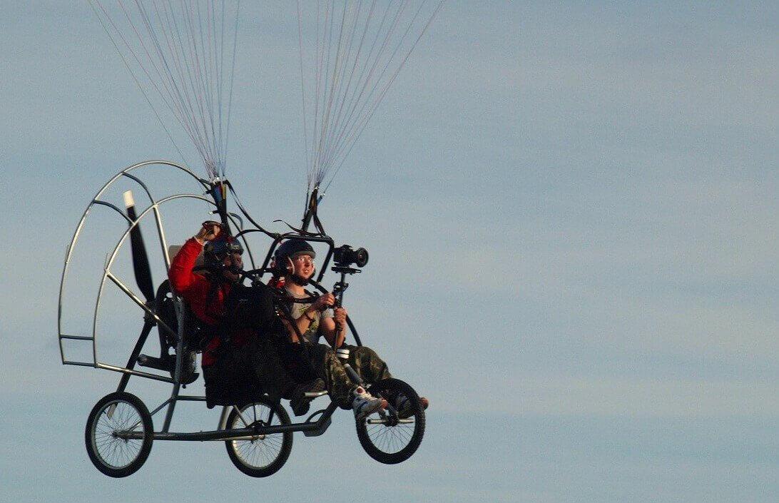 Łódź - lot motoparalotnią w tandemie