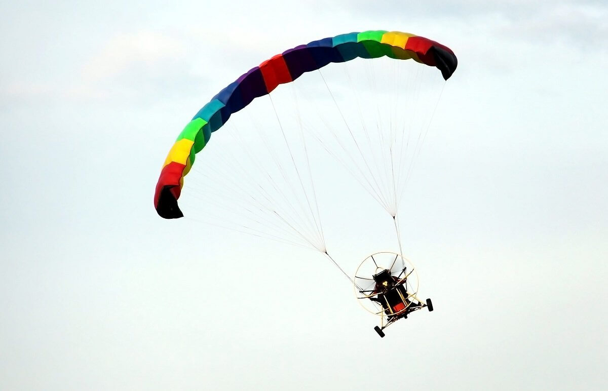 Lot motoparalotią w tandemie w Warszawie