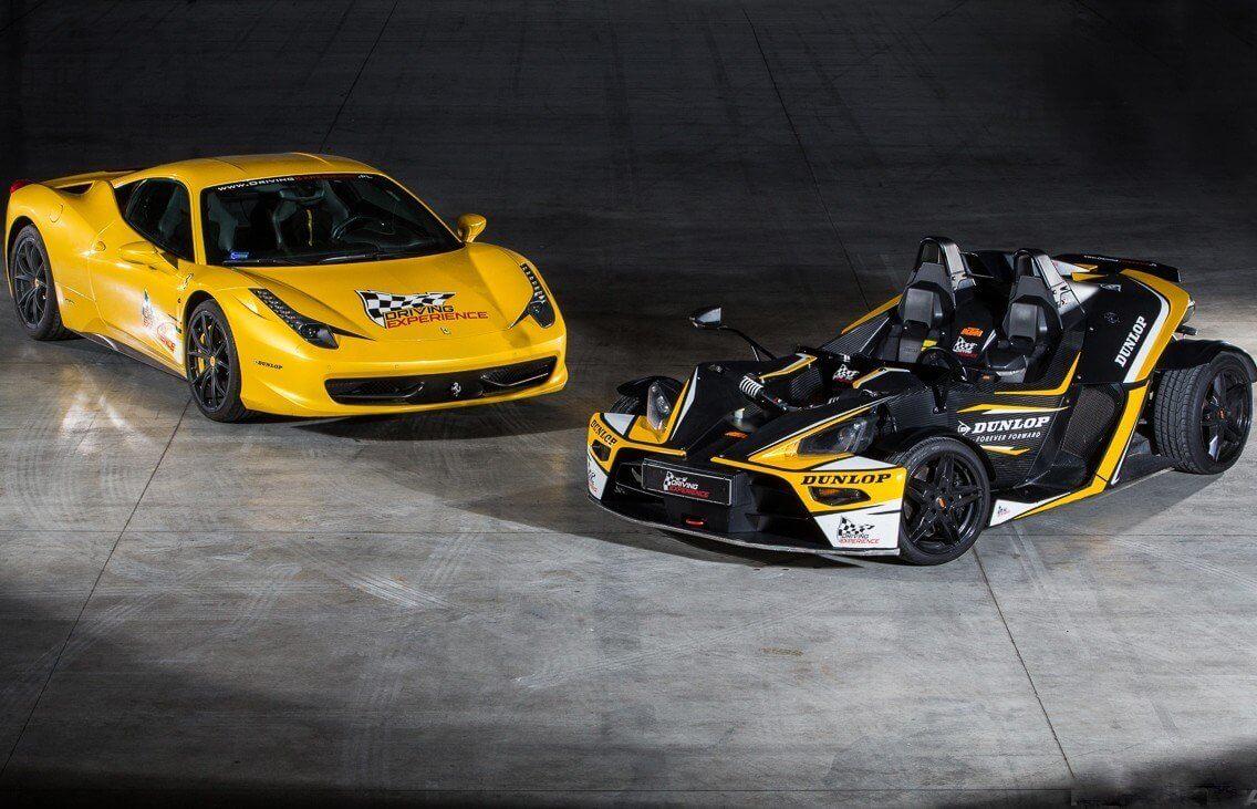 Jazda na torze Kielce: Ferrari i KTM