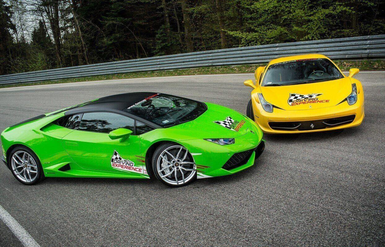 Jazda na torze Ferrari Italia kontra Lamborghini