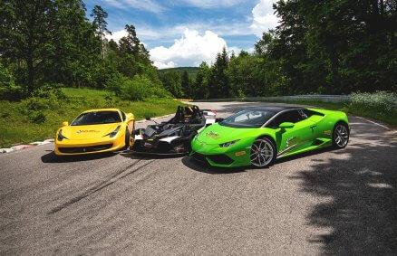 Jazda Lamborghini vs KTM X-Bow vs Ferrari