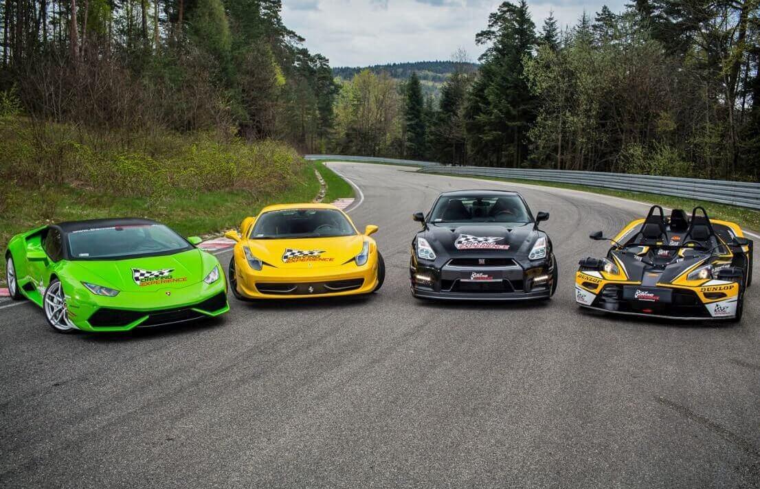 Ferrari + Lamborghini + GTR + KTM X-Bow