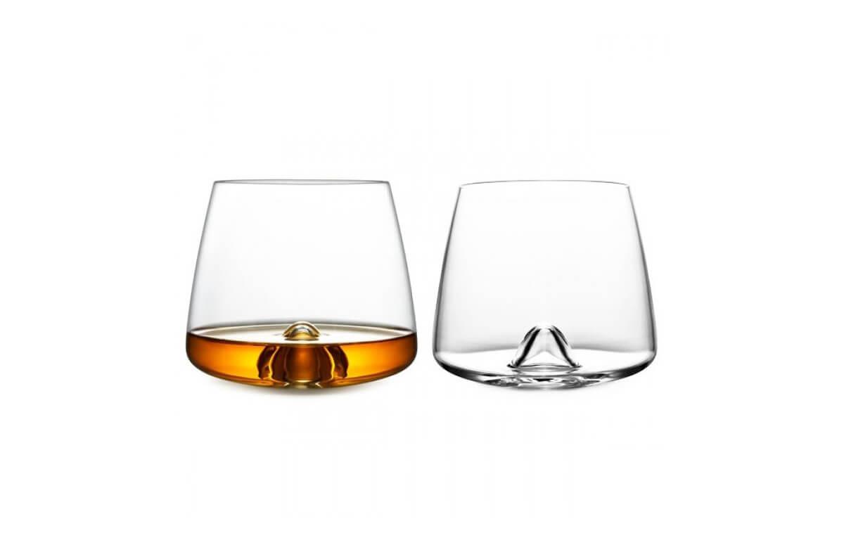 Designerskie szklanki do whisky, komplet 2 sztuki
