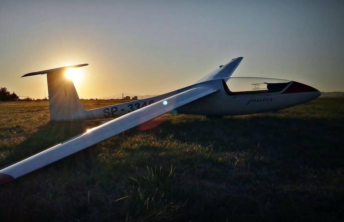 Szybowiec - lot w Beskidach