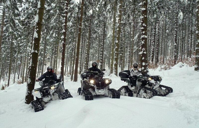 Jazda quadami śnieżnymi dla 2 osób