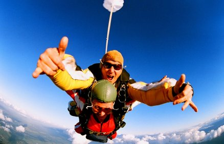 Skok ze spadochronem - tandem