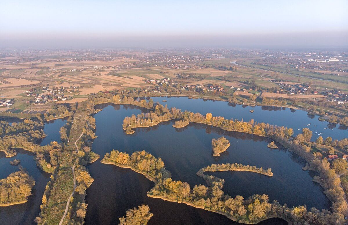 Lot widokowy dla Dwojga - widok na rozlewisko Odry