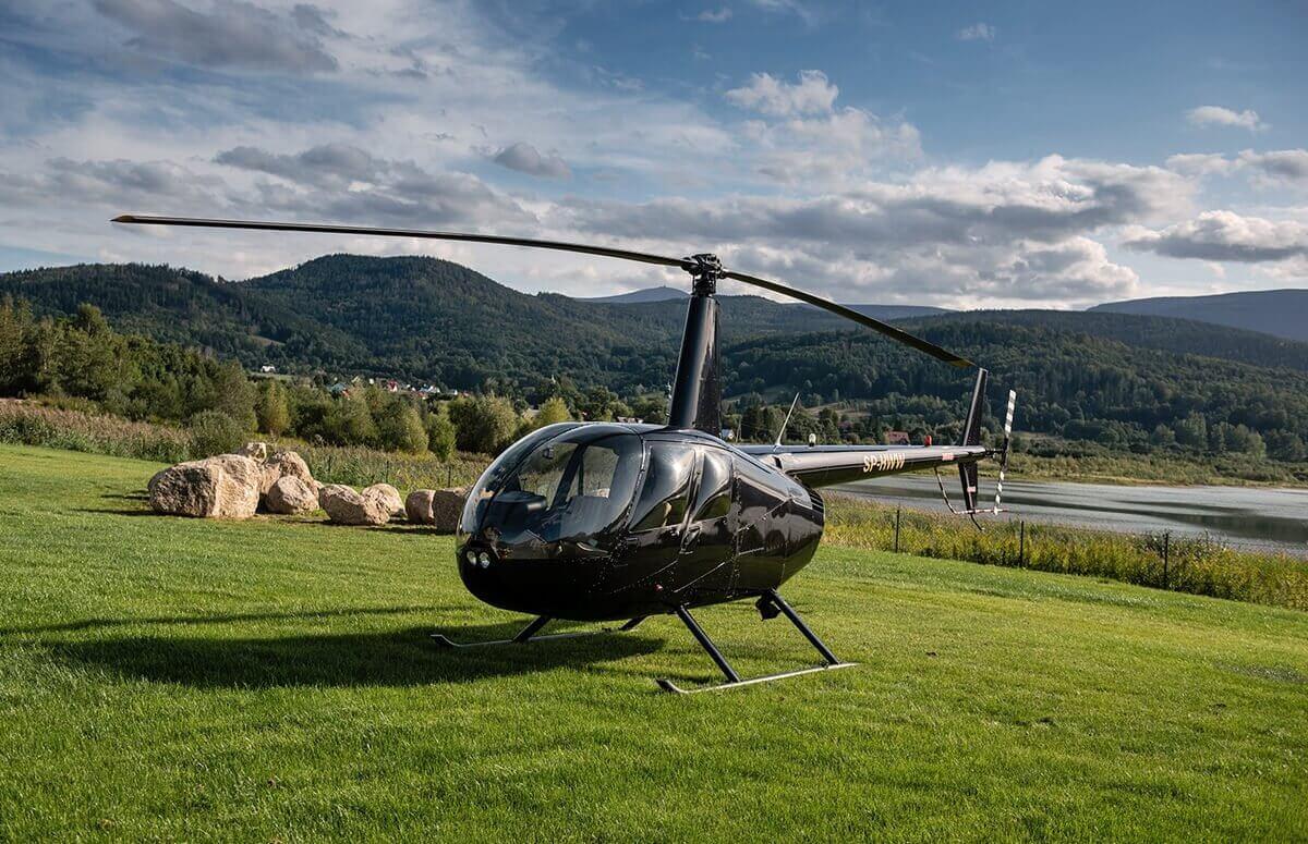 Helikopter, Góry Karkonoskie, przygotowanie do lotu