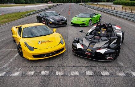Lamborghini vs Ferrari vs Nissan GTR vs KTM X-Bow