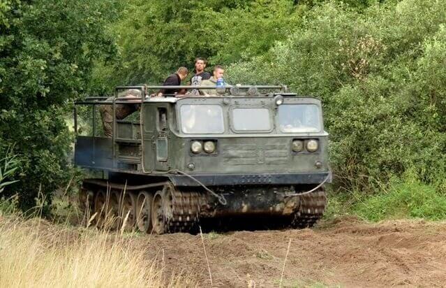 Jazda ATS-59G w grupie