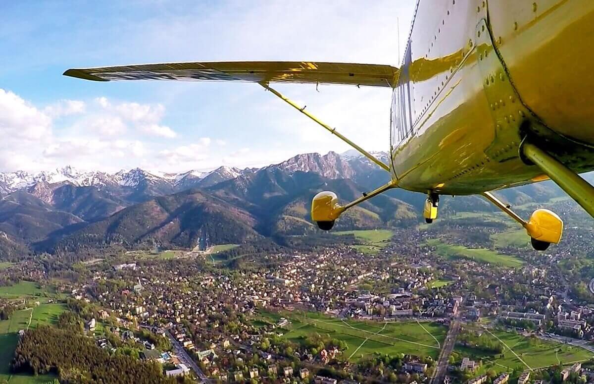 Podhale-widok z samolotu