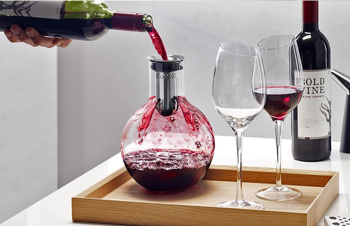 Karafka do napowietrzania wina