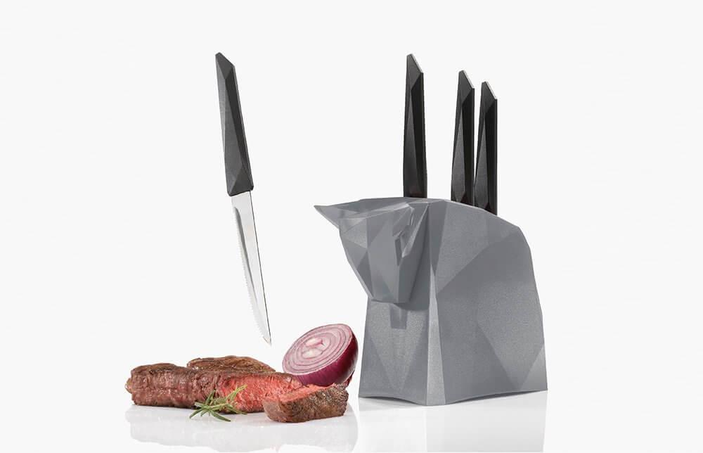 Koziol Pablo noże do steków z blokiem
