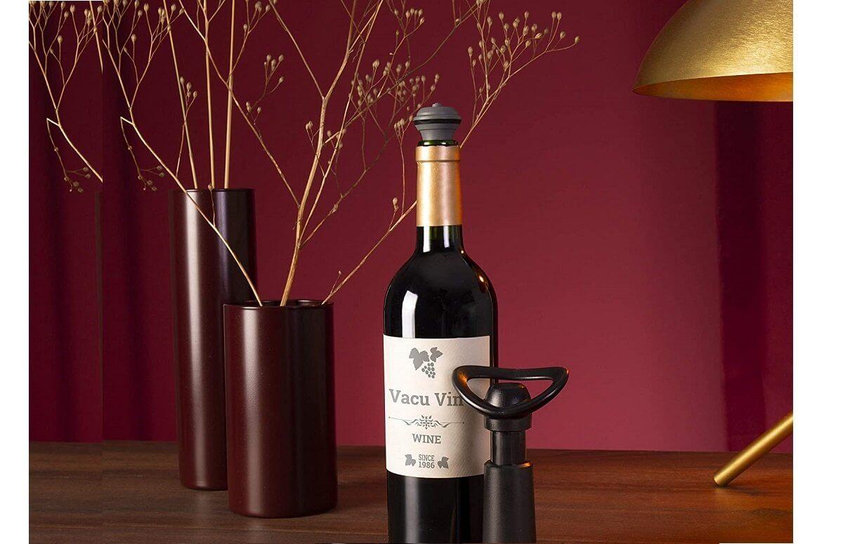 Zestaw dla konesera wina: pompka, korki, nalewak | Vacu Vin