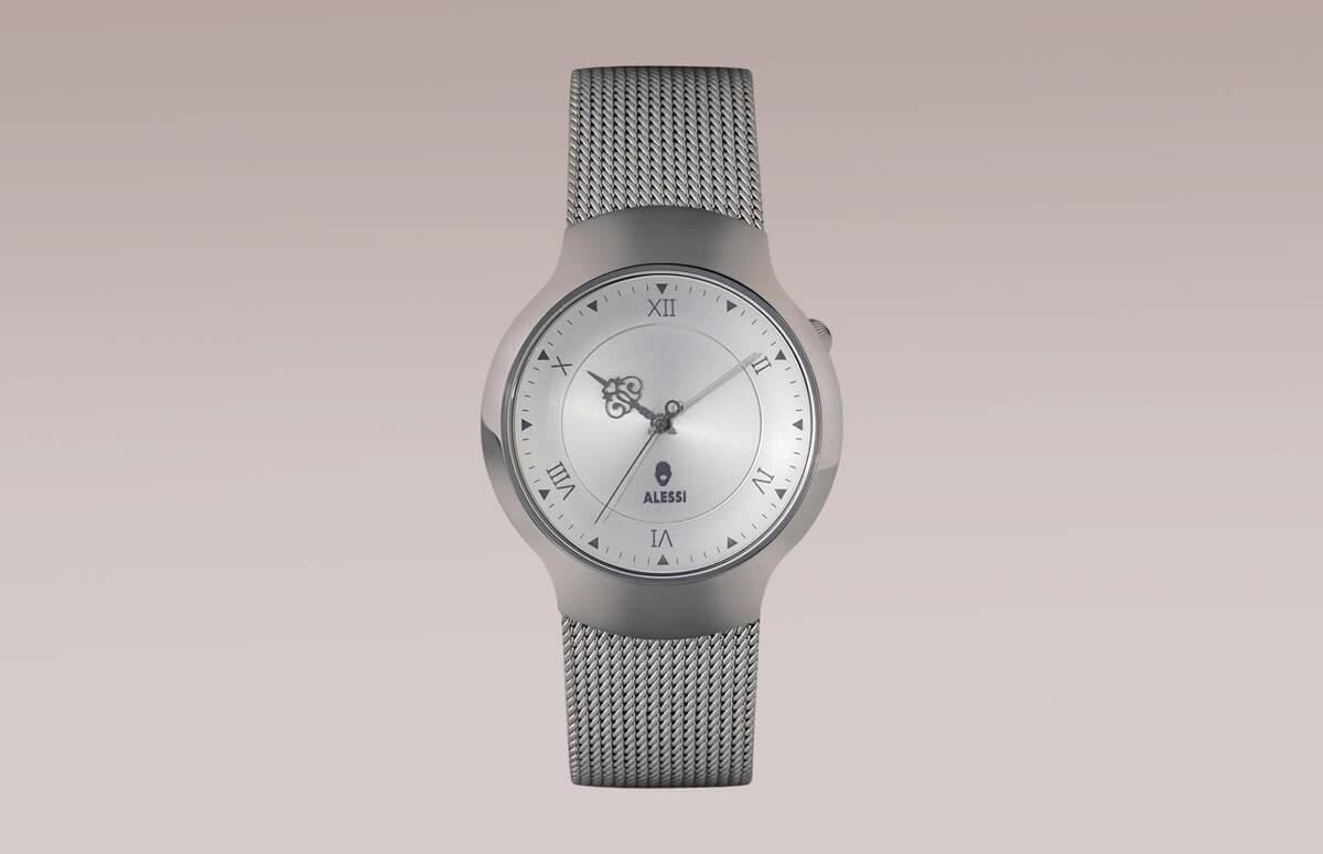 Zegarek Dressed na srebrnym plecionym pasku