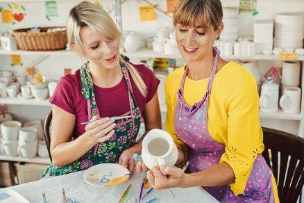 Warsztaty ozdabiania ceramiki dla 2 osób
