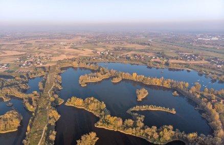 Lot awionetką - Zielona Góra i rozlewiska Odry