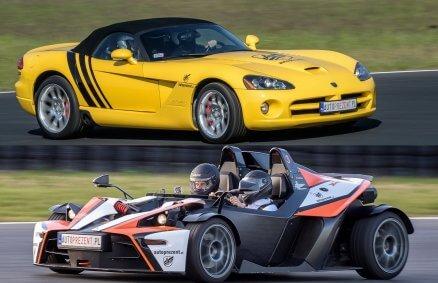KTM X-Bow vs Dodge Viper – piekielna prędkość na torze