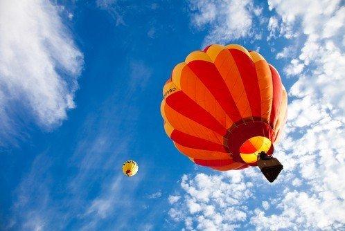 Lot balonem nad Morzem Bałtyckim