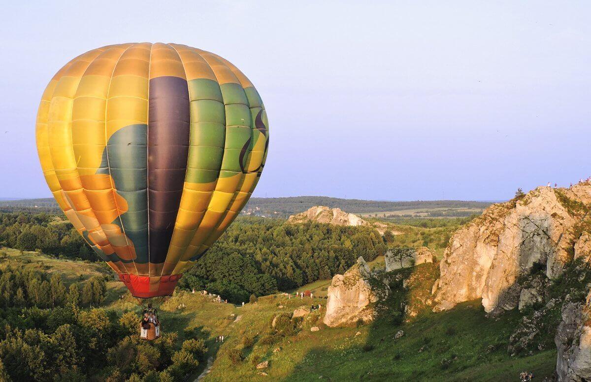 Lot balonem nad Jurą Krakowsko-Częstochowską