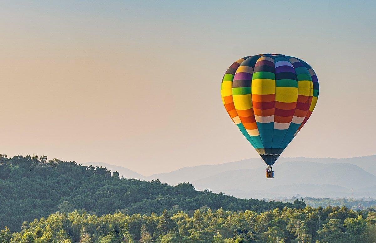 Lot balonem nad Ojcowskim Parkiem Narodowym