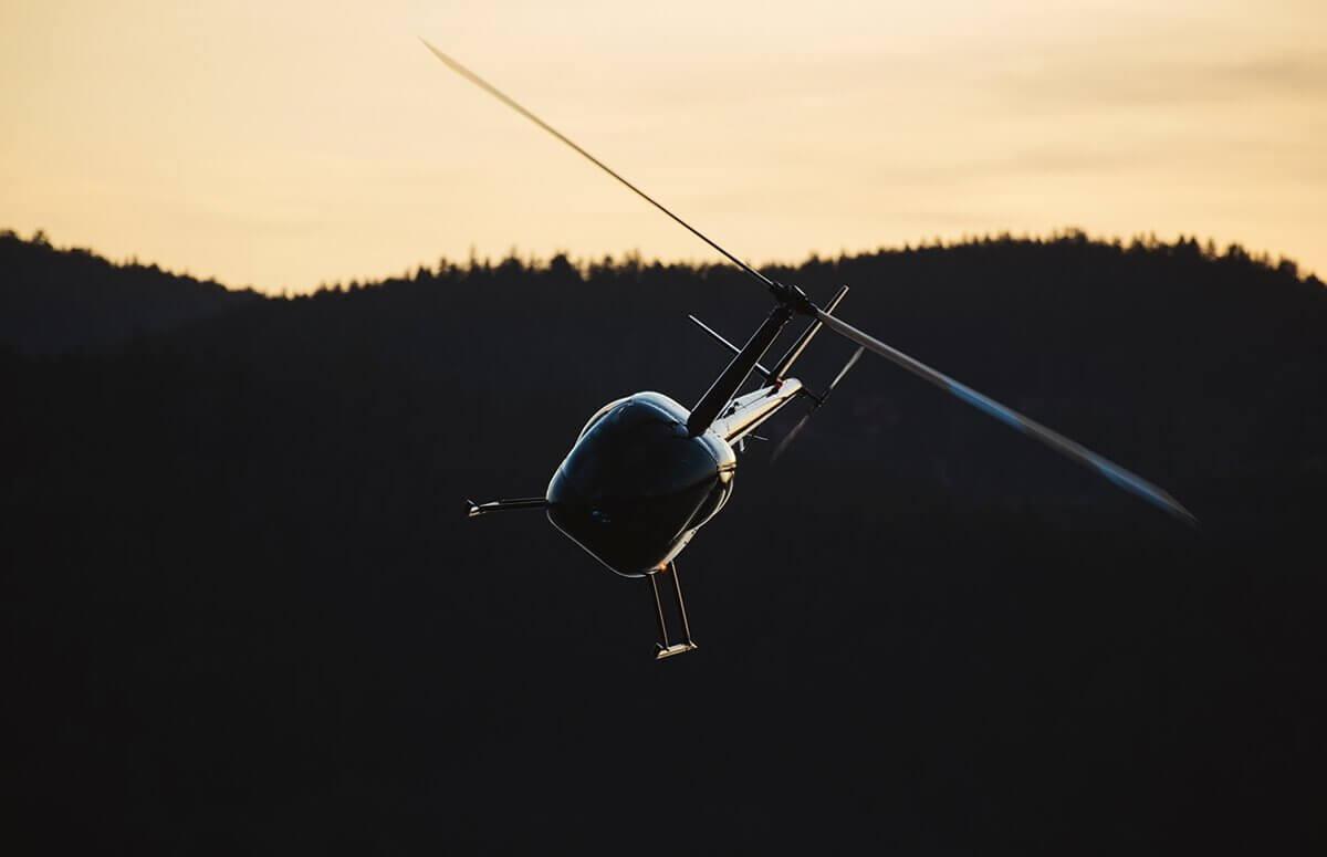 Lot helikopterem nad Karkonoszami