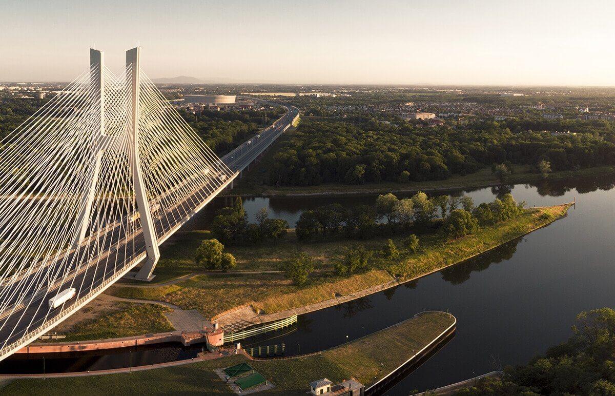 Podziwiajcie Wrocław z lotu ptaka - Most Rędziński