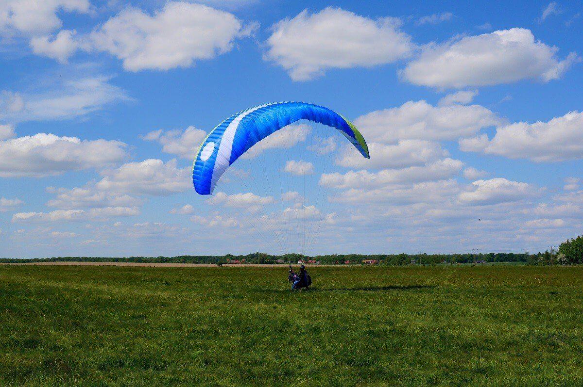 Lot paralotnią w tandemie - Wrocław